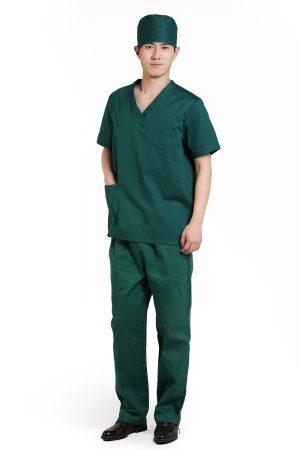 Áo bác sĩ phẫu thuật mẫu 1