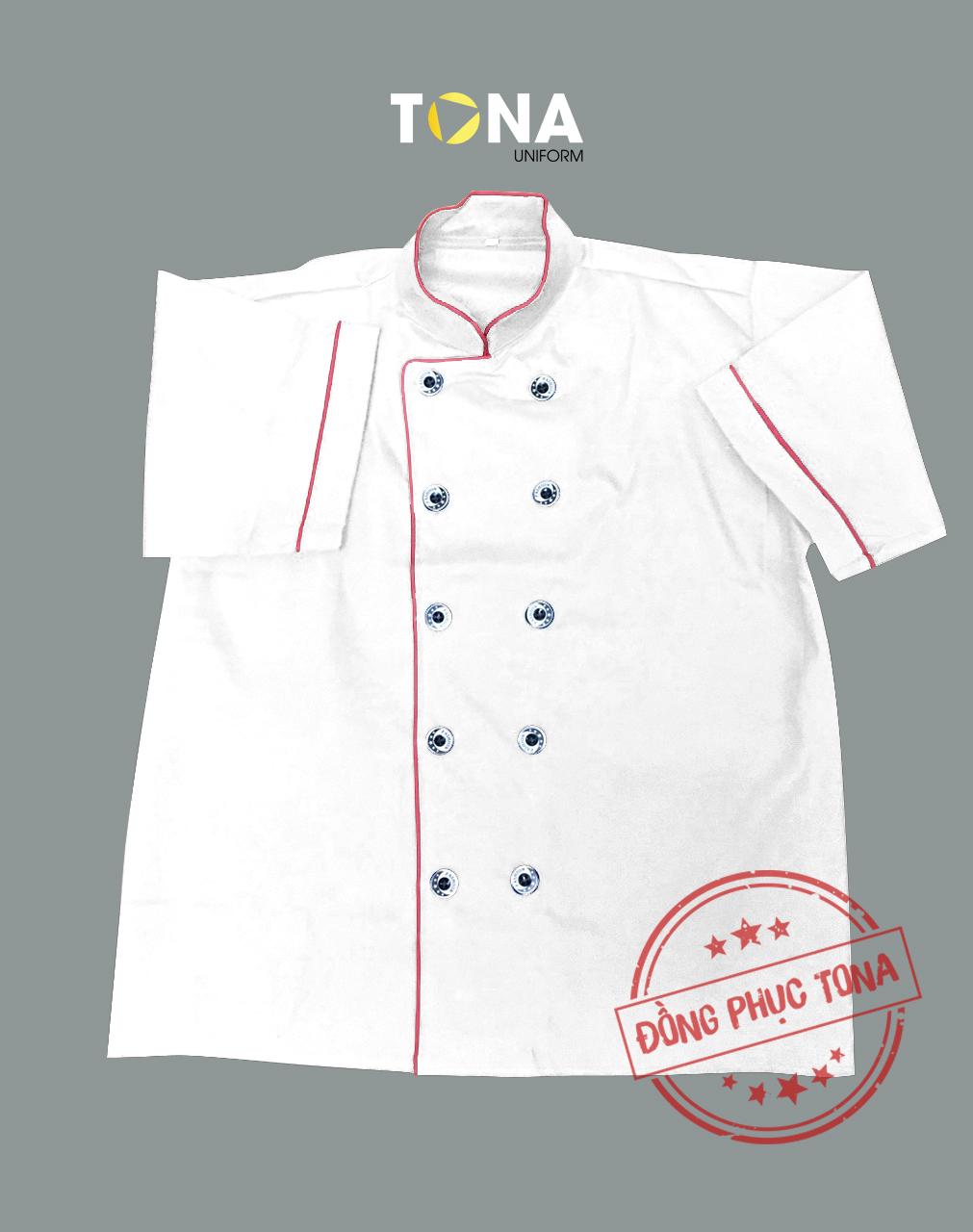 Áo bếp may sẵn mẫu 2