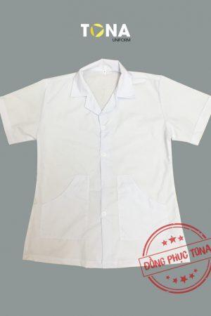 Áo Blouse bác sĩ nữ may sẵn mẫu 1