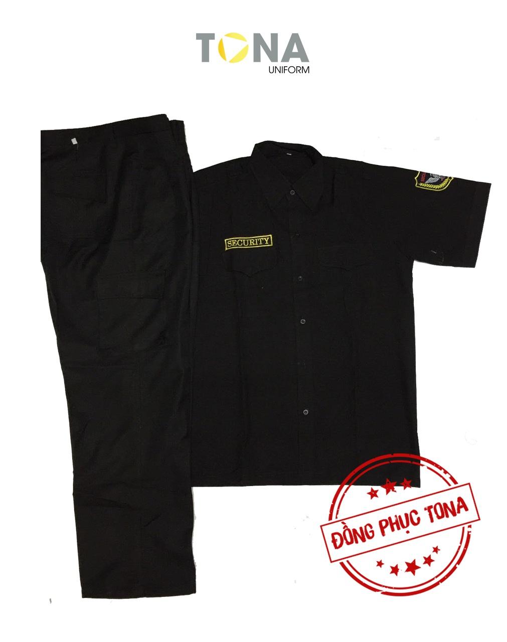 Áo bảo vệ đen tay ngắn có sẵn mẫu 1