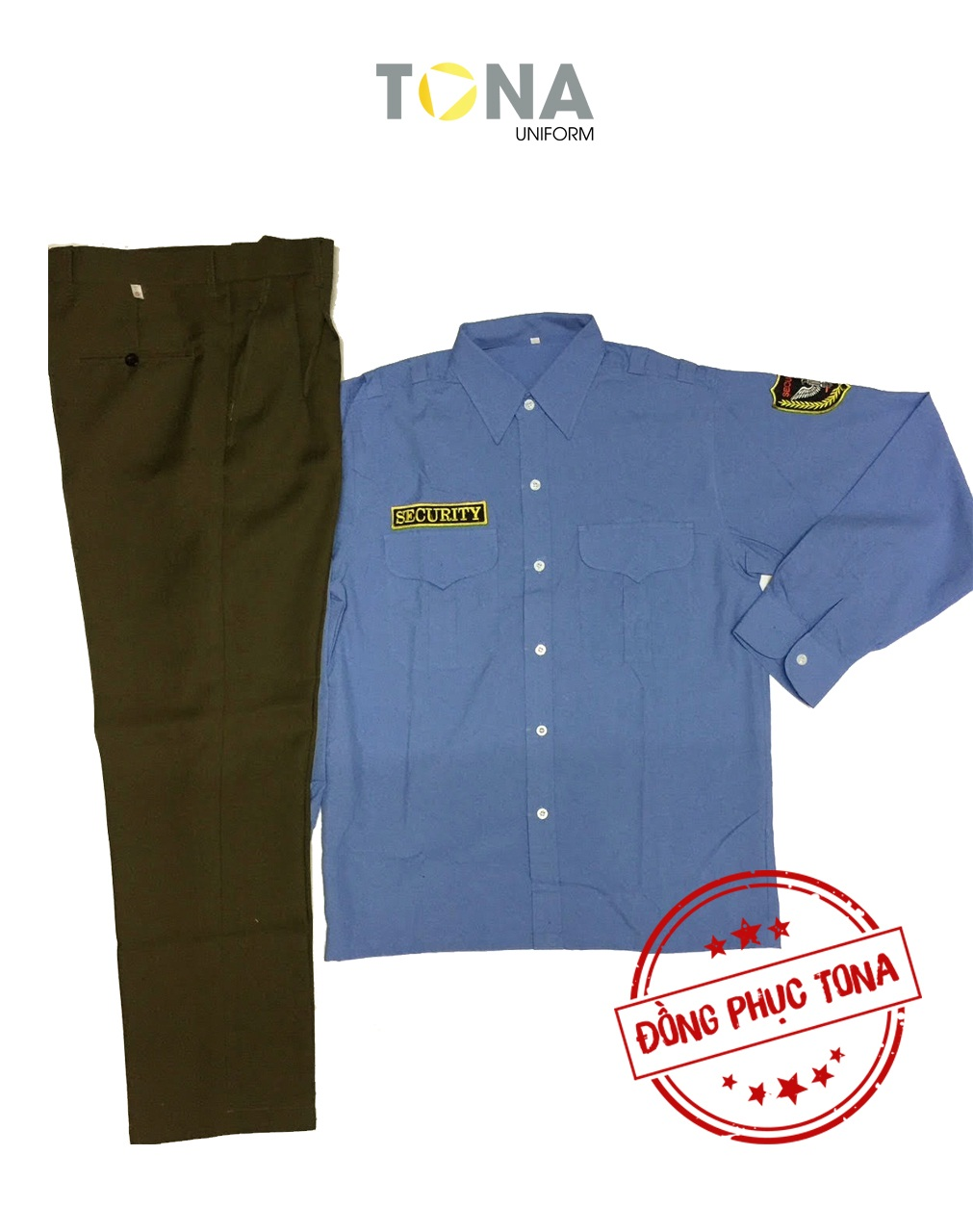 Áo bảo vệ xanh tay dài có sẵn mẫu 1