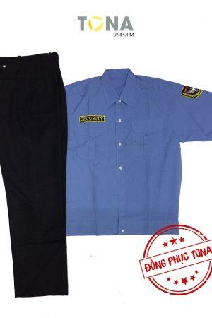 Áo bảo vệ xanh tay ngắn có sẵn mẫu 1