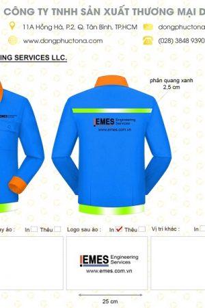 Mẫu áo bảo hộ Công Ty EMES