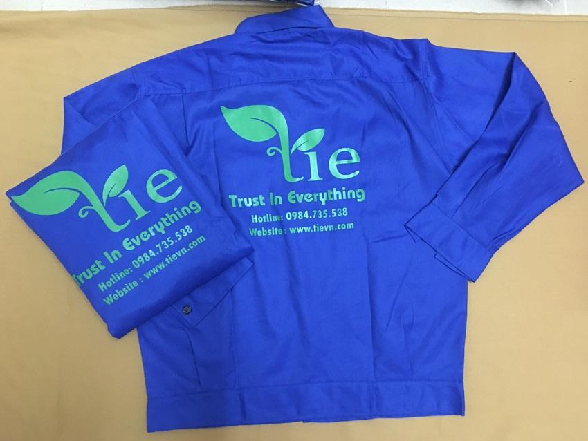 Mẫu áo bảo hộ TIE Việt Nam