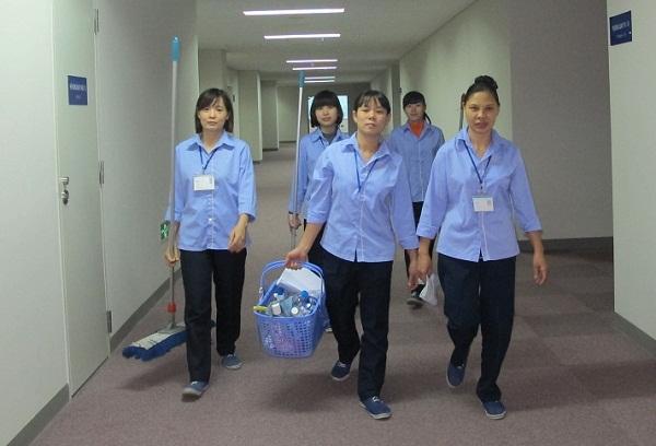 áo công nhân vệ sinh