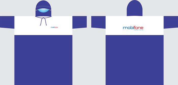 Mẫu thiết kế áo mưa quà tặng của hãng Mobifone