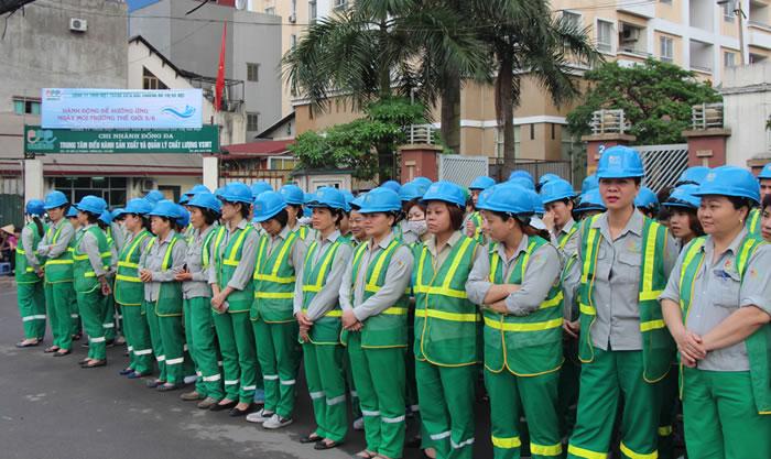 áo công nhân xây dựng vệ sinh công trình
