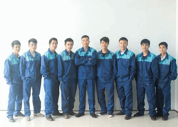 Trang phục bảo hộ ngành kỹ thuật cơ khí