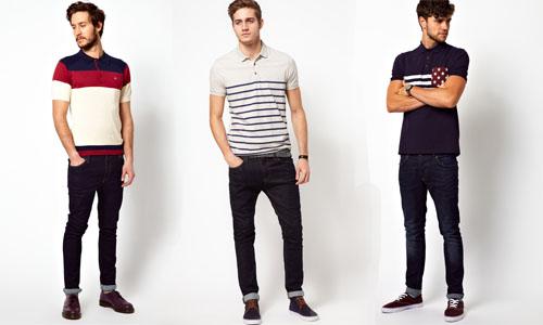 Áo thun phối với quần jeans và giày thể thao