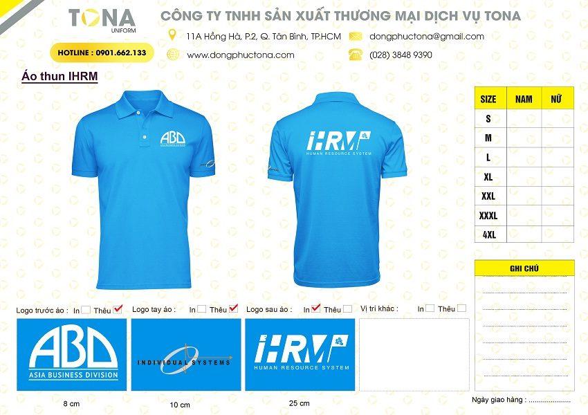 Mẫu áo thun công ty IVS
