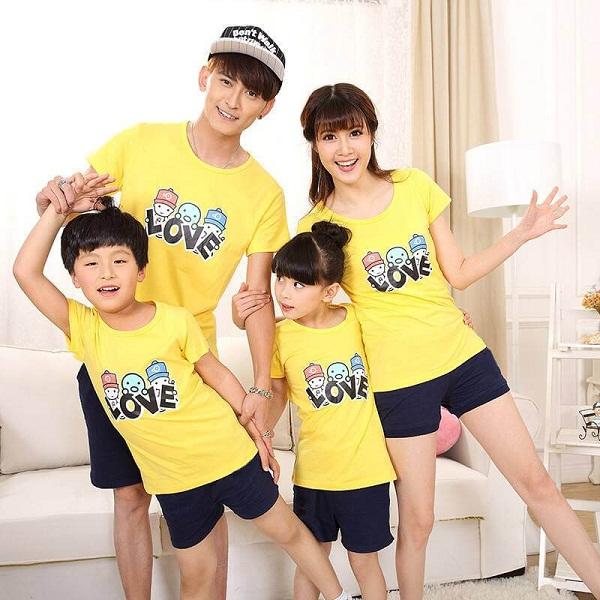 May áo đồng phục gia đình đẹp giá rẻ tại TPHCM 1