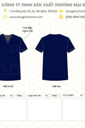 Mẫu áo bác sĩ phòng mổ