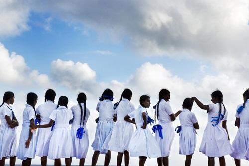 Đồng phục học sinh nữ sinh Sri Lanka