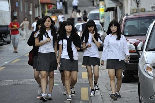 Đồng phục học sinh nữ sinh Hàn Quốc