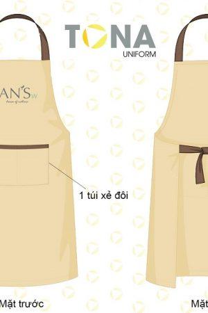 Mẫu tạp dề có túi xẻ đôi