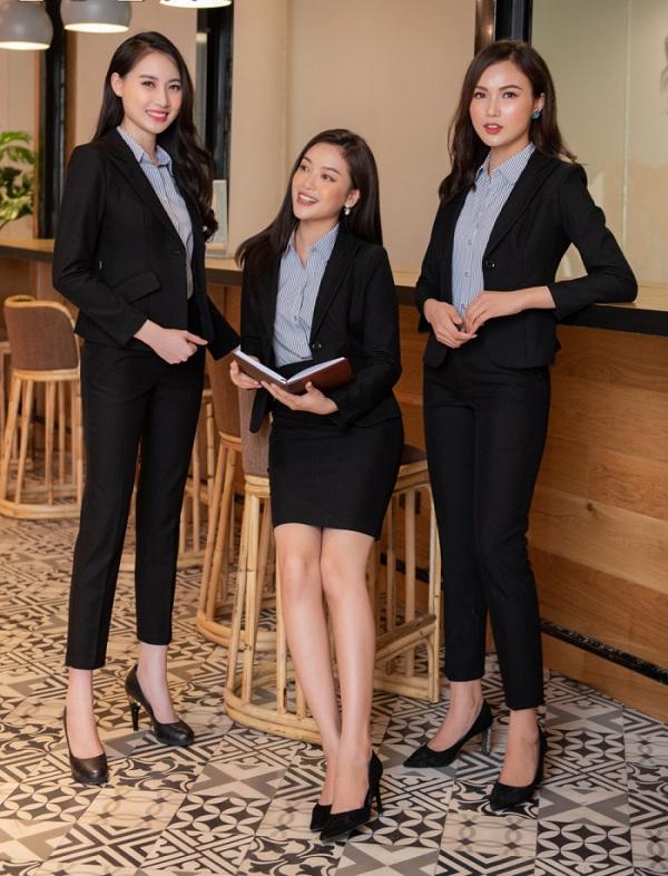 Áo Vest nữ đồng phục đẹp may theo yêu cầu tại TPHCM