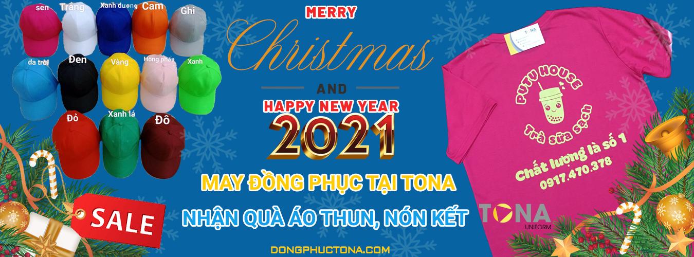 Nhận quà áo thun, nón kết dịp Giáng sinh 2020 và Năm mới 2021