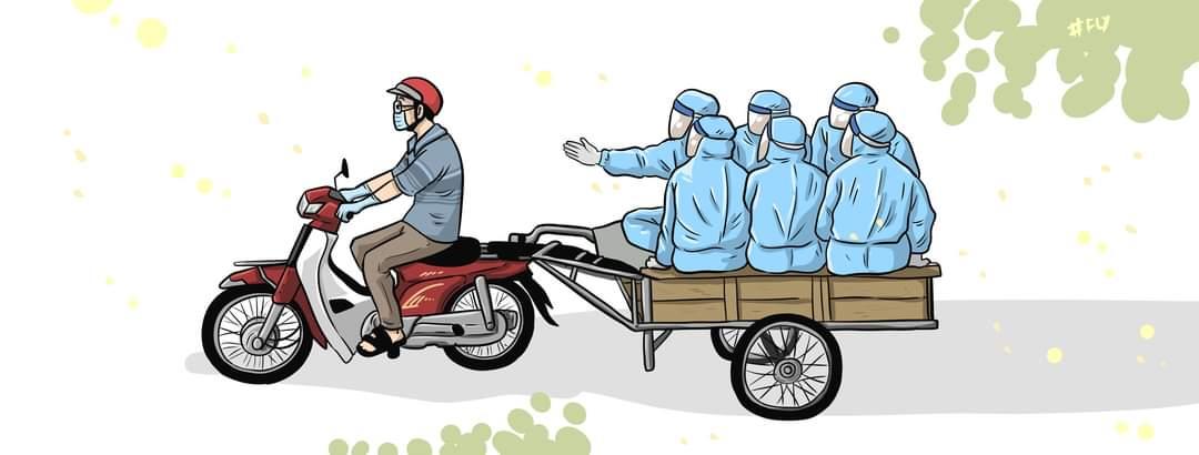 quần áo bảo hộ Y tế phòng chống dịch dùng 1 lần màu xanh 5