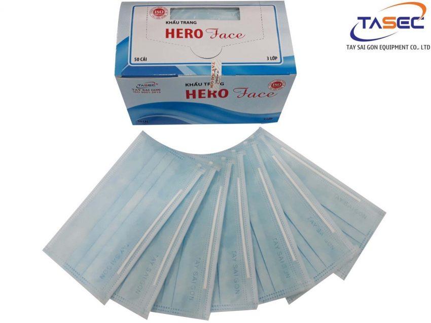 Khẩu trang Y tế 3 lớp Hero Face hiệu Tây Sài Gòn