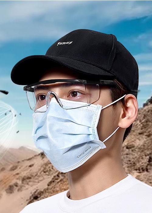 Mắt kính bảo hộ chắn gió bụi, tia UV, chống giọt bắn 2