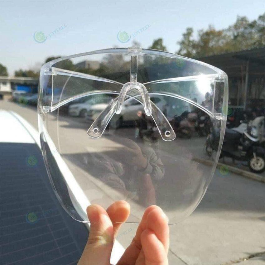 Tấm kính bảo hộ che mặt Y tế chắn giọt bắn màu trắng