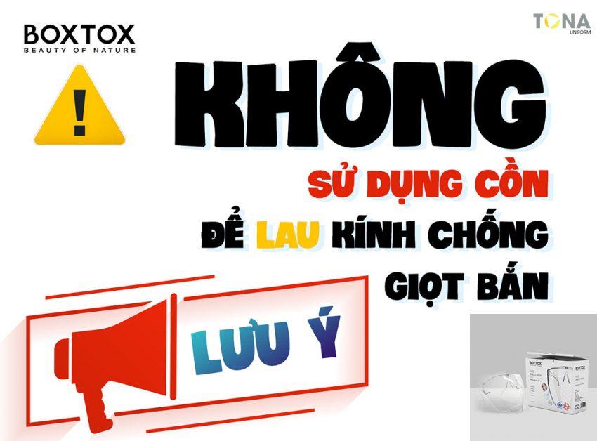 Bảo quản Kính chống giọt bắn Boxtox